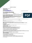 Volunteer Application PDF