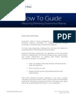 Measuring Marketing Governance Maturity
