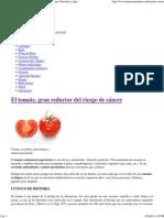 El tomate, gran reductor del riesgo de cáncer _ Terapias Naturales y algo más