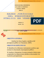 Bases Jurídicas del Presupuesto Público en Venezuela