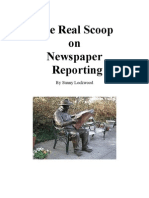 The Real Scoop on Newspaper Reporting