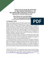 Base de données BILINGUE WOLOF-FRANÇAIS