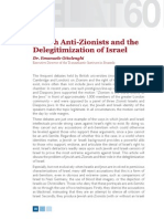 Jewish Anti-Zionists and the Delegitimization of Israel