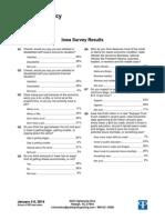 Progress Iowa/Public Policy Polling Pre-Legislative Session Survey [Jan 3-5, 2014]