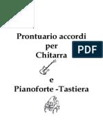 Prontuario Accordi x Chitarra e Tastiera