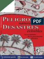 La Economía de la Prevención Efectiva - Peligros Naturales y Desastres Naturales -