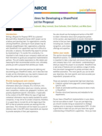 Guidelines for writing a SharePoint RFP