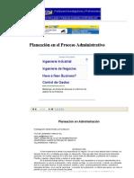Planeación en el Proceso Administrativo - Apuntes de Administración de Empresas y Negocios