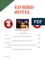 red bird hotel menu