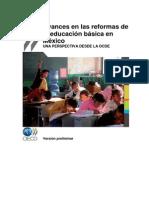Avances en Las Reformas de La Educacion Basica