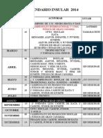 Calendario Insular 2014 Fikgc.