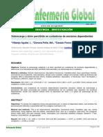 (español) Sobrecarga y dolor percibido en cuidadoras de ancianos dependientes