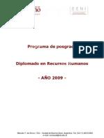 Programa de posgrado Diplomado en Recursos Humanos