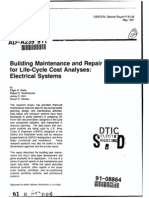 Building Maintenance and Repair Data for Life-Cycle Cost Analyses - Electrical Systems