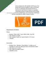 Un tutorial explicando la configuración del emulador de PSP