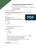 Formulas Matematicas Empleadas en El Desarrollo de La Ingenieria Civil
