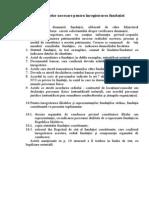 lista actelor pentru înregistr_ fundaţiei
