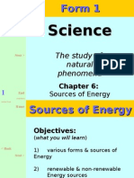science form 1 sources of energy
