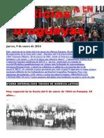 Noticias Uruguayas Jueves 9 de Enero Del 2014