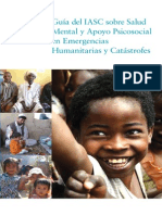 Guía del IASC sobre Salud mental en emergencias humanitarias y catastrofes