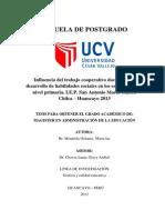 Influencia Del Trabajo Cooperativo Docente en El Desarrollo de Habilidades Sociales en Los Alumnos Del Nivel Primaria CORRECCION 11