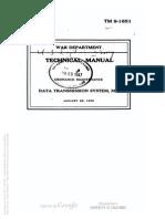 Tm 9-1651 Data Transmission System m3,  january 1942