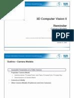 3D Camera Models Navab