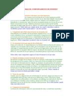 DECÁLOGO DE NORMAS DE  COMPORTAMIENTO DE INTERNET