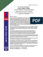 Invitación a encuentro programático Con la Chile X Chile