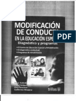 9. Modificación de la conducta en la educación especial