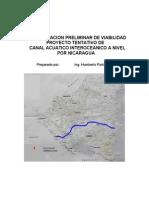 Canal Acuatico a Nivel. Estudio Preliminar de Viabilidad