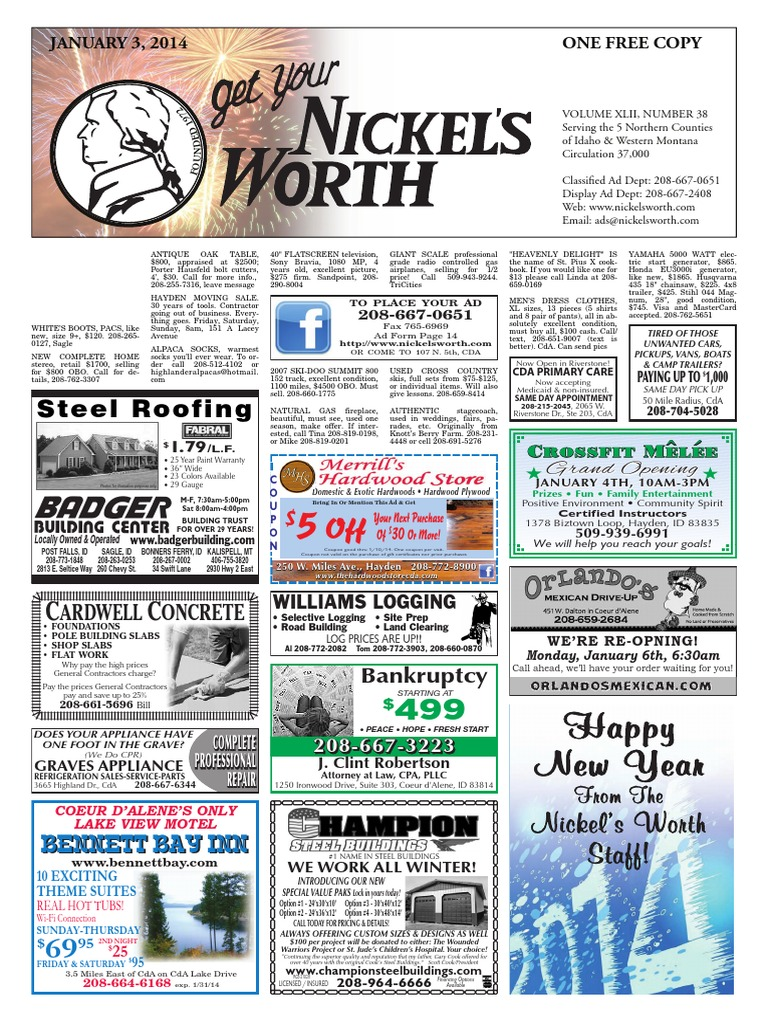 Nickel's Worth Issue Date 01-03-14   Dentistry   Business