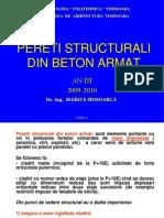 Proiectare Structurilor Curs 13 Pereti b. a.
