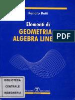 Elementi Di Geometria E Algebra Lineare -Betti