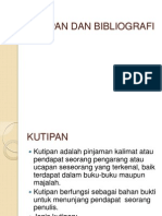 Kutipan Dan Bibliografi