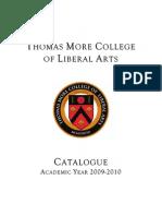 Thomas More College 2009-10 catalogue