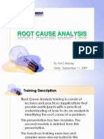 Root Cause Analysis Training Ver 0