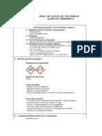 Acido Fluorhidrico - MSDS