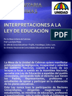 Interpretaciones a la Ley de Educación_