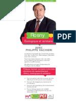Flyer présentant Rosny écologique et solidaire