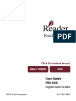 User's Manual for the Sony Reader Touch PRS 650