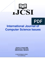 International Journal of Computer Science Issues, IJCSI, Volume 3, August 2009.