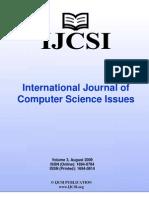 International Journal of Computer Science Issues, IJCSI, Volume 3, August 2009.