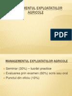Managementul Exploatatiilor Agricole