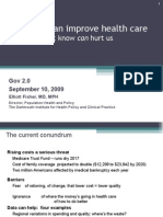 Data Can Improve Health Care and Reduce Costs