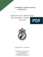 Ordine degli studi 2009-2010