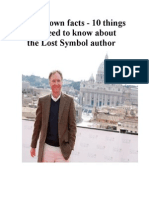 """Dan Brown facts - 10 things you need to know about """"The Lost Symbol"""" author"""