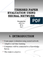 COMPUTRISED PAPER EVALUATION USING NEURAL NETWORK
