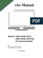 Vizio GV46l HDTV Service Manual