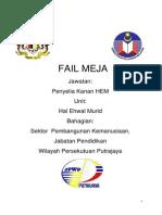 Fail Meja Penyelia Kanan HEM (SPBT/Kebajikan) Terkini 30 SEPT 2013